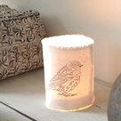 distelroos-AfroDutchPaperStone-Tealight-holder-bird-theelichthouder