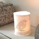 distelroos-AfroDutchPaperStone-Tealight-holder-bird-theelichthouder