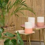 Rustik Lys - Windlicht licht roze