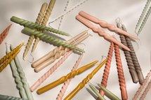 Rustik Lys - Dinerkaars Swirl Natuur