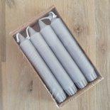 Rustik Lys - Dinerkaars 2,2 x 14 cm Koel grijs set van 4