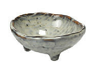 Broste Copenhagen - Bowl 'Nordic Sea' Stoneware w/3 small feet sea