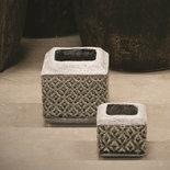 PTMD - Shane grey ceramic pot square tall s