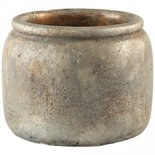 PTMD - Finley brown Cement pot round xs