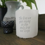 AfroDutchPaperStone - Tealight holder The love