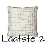Broste Copenhagen - Cushion cover Indian square Frosty green