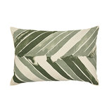 Broste Copenhagen - Cushion cover Arrow Oil green