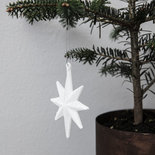 House Doctor - Ornament Ster Wit met glitter