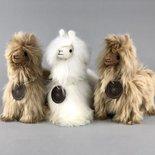 Inkari - Alpaca zachte knuffel Suri goud Small