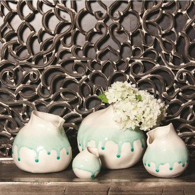 PTMD - North blue ceramic round pot xs