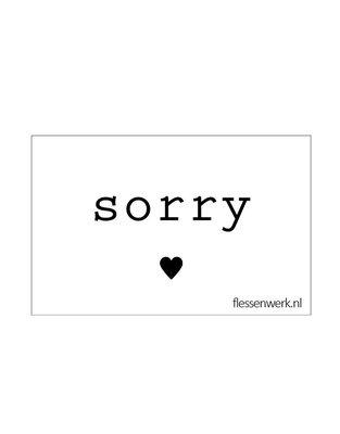 Flessenwerk - Kaartje Sorry