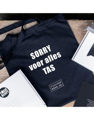 Flessenwerk - Tasjeblieft Sorry voor alles tas