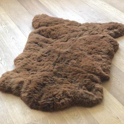 Inkari - Handgemaakte Alpaca kleed Reina Walnoot