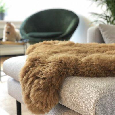 Inkari - Handgemaakte Alpaca kleed Reina Hazelnoot