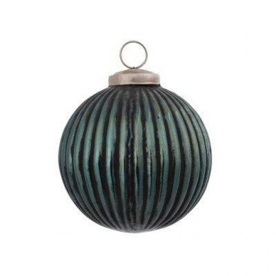 PTMD - Kerstbal blauw/zwart M