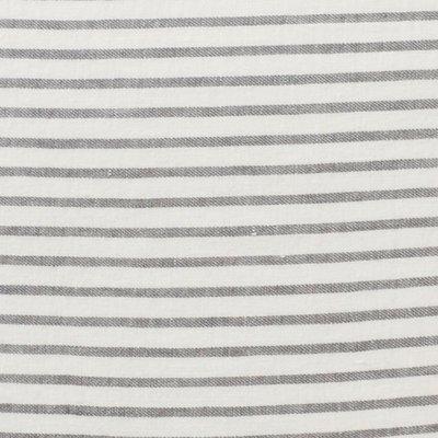 Puur lifestyle - Linnen theedoek Stripe grijs/wit