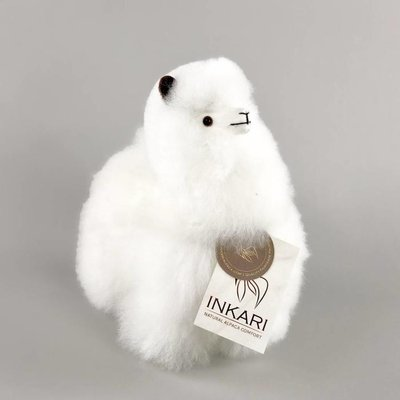 Inkari - Alpaca knuffel Ivoor S