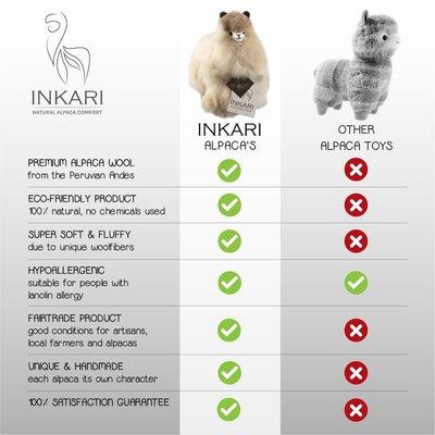 Inkari - Alpaca knuffel Walnoot S