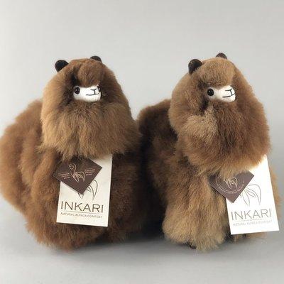 Inkari - Alpaca knuffel Choco cream S