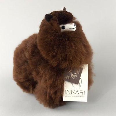Inkari - Alpaca knuffel Chocolade S