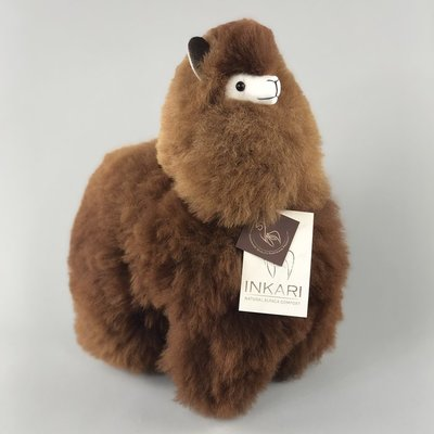 Inkari - Alpaca knuffel Choco cream M
