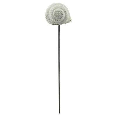 PTMD - Garden stick Cement snail white s