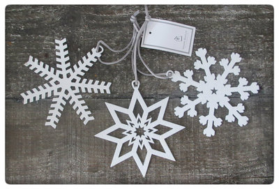 House Doctor - Ornament Star/Snowflake Large s/3