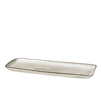 Broste Copenhagen - Plate 'Nordic Sand' square Stoneware
