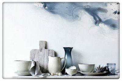 Broste Copenhagen - Bowl 'Nordic Sand' Stoneware w/3 small feet sand B