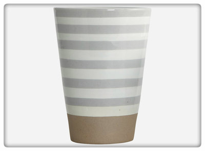 House Doctor - Mug Stripe stone