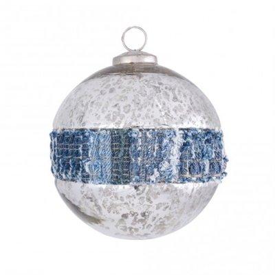 PTMD - Christmas Denim blue Glass ball m
