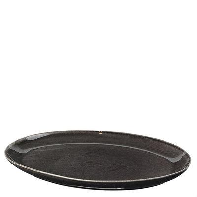 Broste Copenhagen - Nordic Coal Plate oval