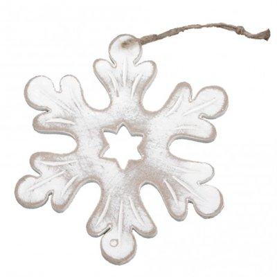 PTMD - Christmas wood white snowflake s