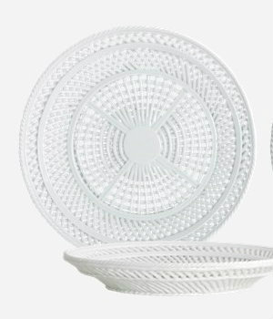 House Doctor - Bowl Net light grey