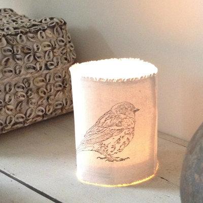 AfroDutchPaperStone - Tealight holder bird