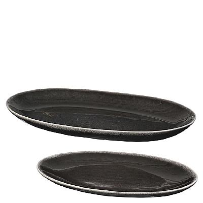 Broste Copenhagen - Nordic Coal Plate oval s/2