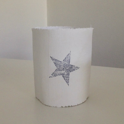 AfroDutchPaperStone - Tealight holder Star