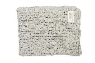 MrsBloom - Knitted Throw Narbonne light grey