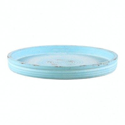 PTMD - Celeb blue round Cement plate s