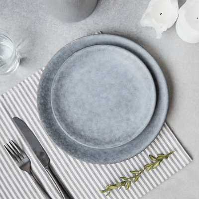 House Doctor - Grey Stone Lunch plate