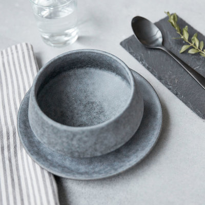 House Doctor - Grey Stone Bowl medium
