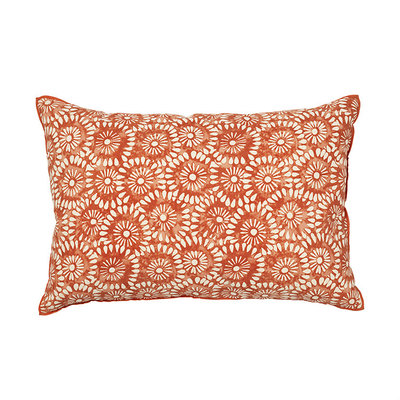 Broste Copenhagen - Cushion cover Block look Paprika