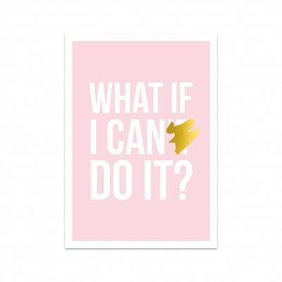 Studio Stationery - Kaart I can do it