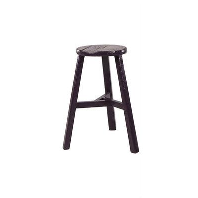 Broste Copenhagen - Tall Stool Merlino Elm wood round grape roy