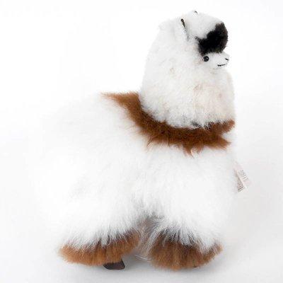 Inkari - Alpaca zachte knuffel Ivoor / bruin gevlekt Medium