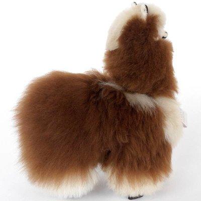 Inkari - Alpaca zachte knuffel Bruin / beige Medium