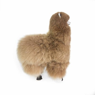 Inkari - Alpaca zachte knuffel Bruin Large