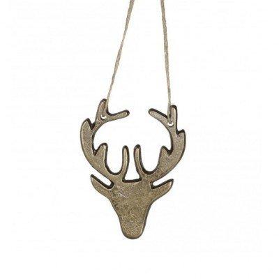 PTMD - Aluminium rough gold deer