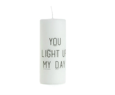 Rustik Lys - By Kimmi - Kaars You light up my day