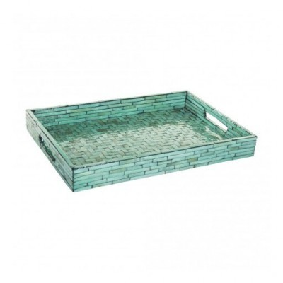 PTMD - Line Green shell rectangle tray